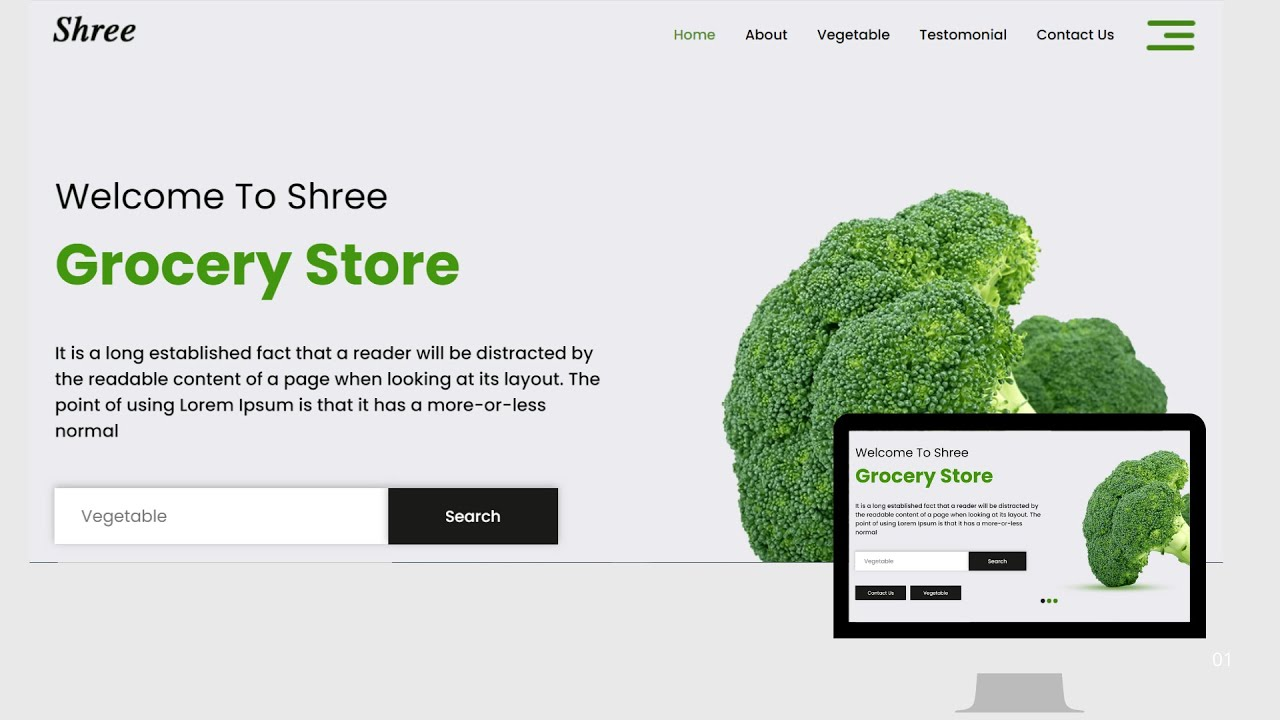 Complete Responsive Website Design With HTML5 CSS3  Grocery Store