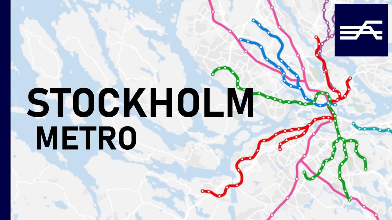 Stockholm's rapid transit expansion animation 1950-2021