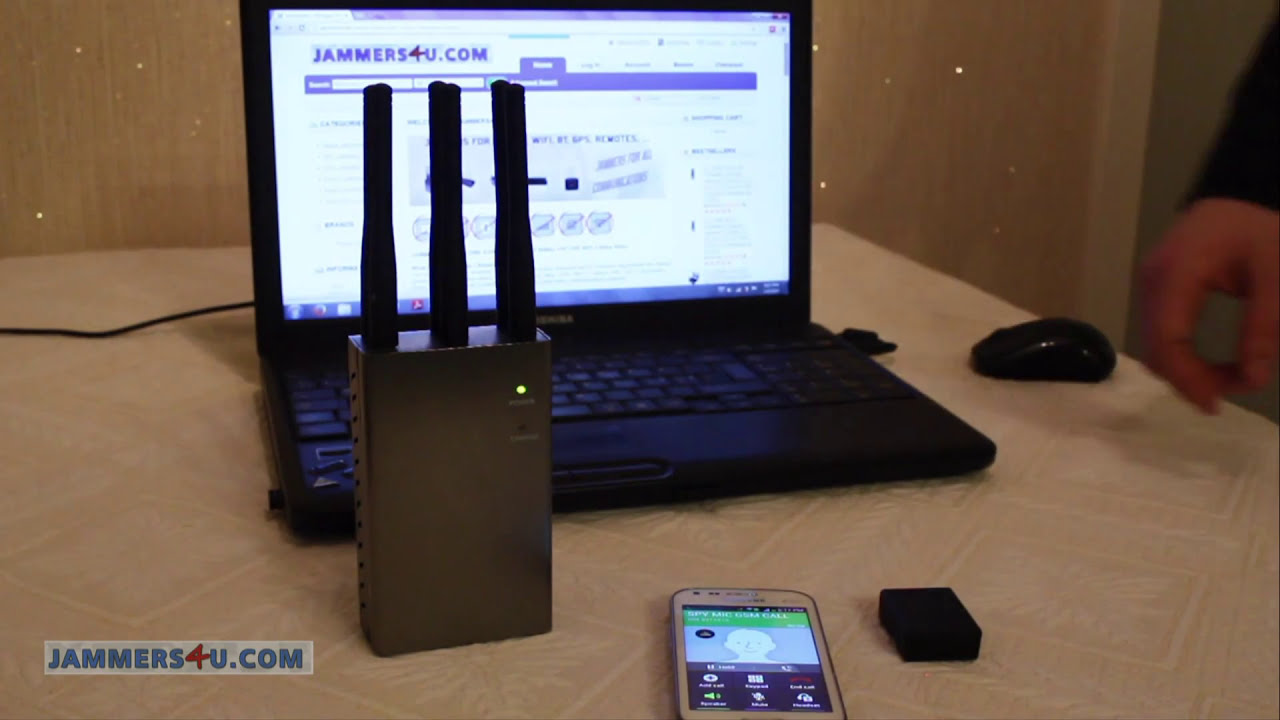 How Jammer stops Spy cell gsm listening Bug N9 - test video demo review