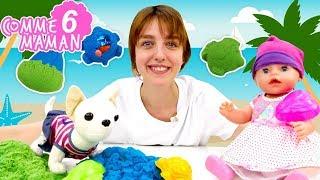 Vidéo en français pour enfants. Show Comme maman №6 - Bébé Born Emily : promenade à la mer