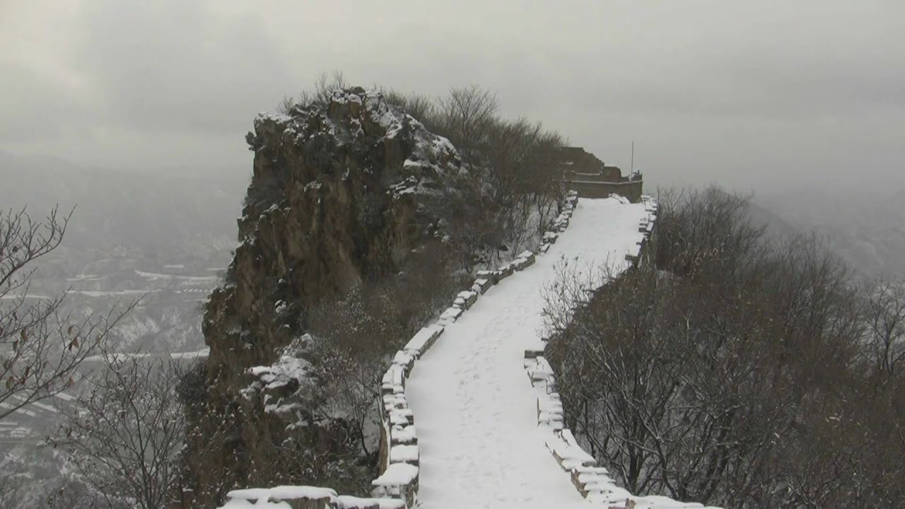 Simatai Great Wall of China in the snow
