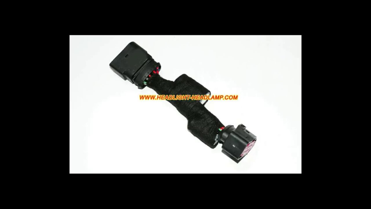 hight resolution of audi a4 s4 rs4 b8 5 halogen to hid bi xenon headlight adapter wiring harness wires cable