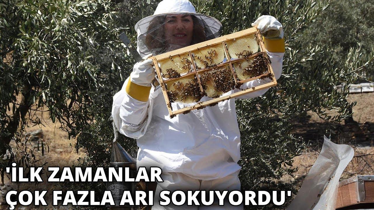 Kadın arıcının azmi, çevresine örnek oldu! 'İlk zamanlar çok fazla arı sokuyordu'