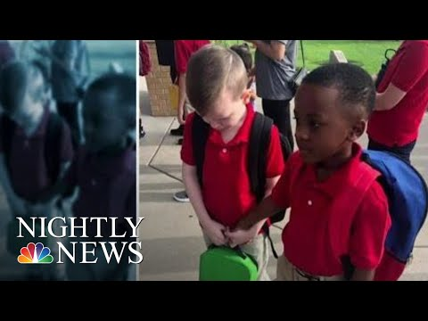 Kylie - GOOD VIBES: Young Student consoles fellow student with autism