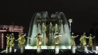 """Фестиваль """"Круг света"""" вид со стороны фонтана (световое шоу/лазерное шоу) ВДНХ 2016."""