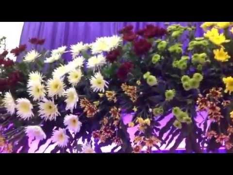 rangkaian bunga dekorasi pelaminan sederhana - satya