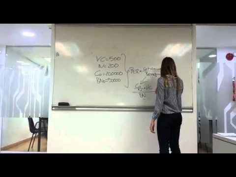 Cálculo del PER de una empresa
