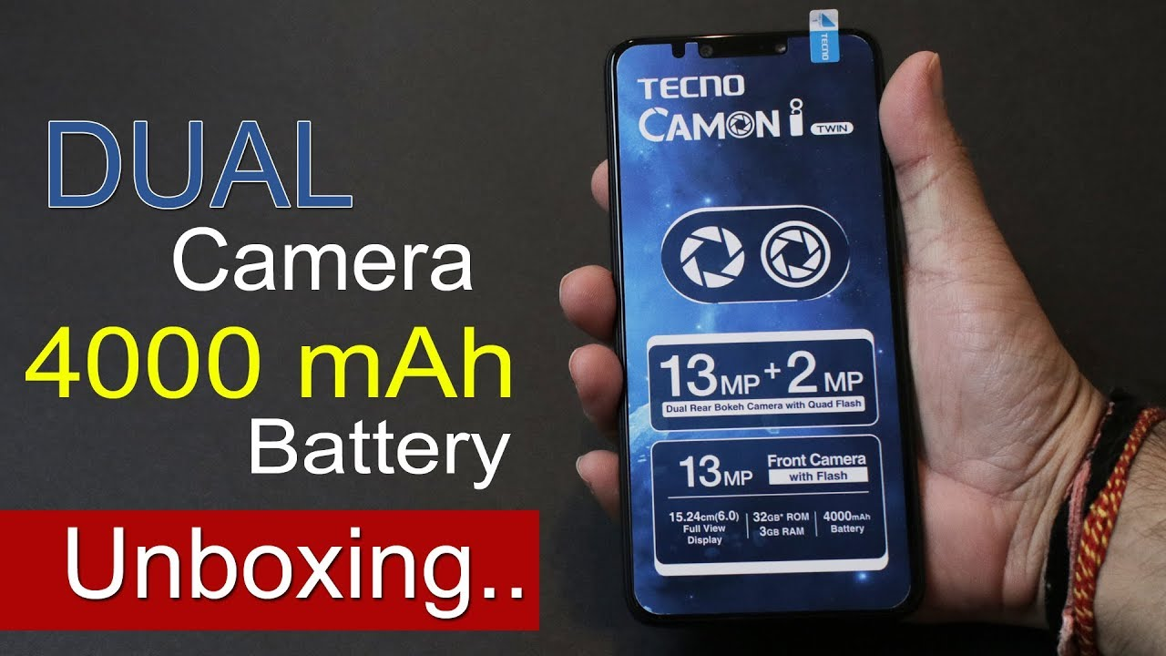 Tecno Camon i Twin Unboxing, First Impression, Specs, Price in India Rs   11,499
