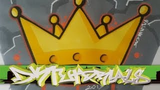 How to draw a graffiti crown step by step - Graffiti Tutorial