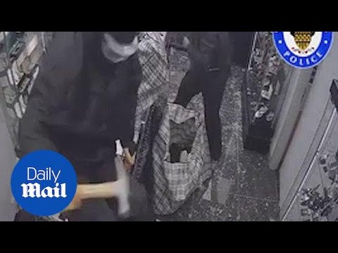 Armed Robbers Use Sledge Hammers To Raid Jewellery Store