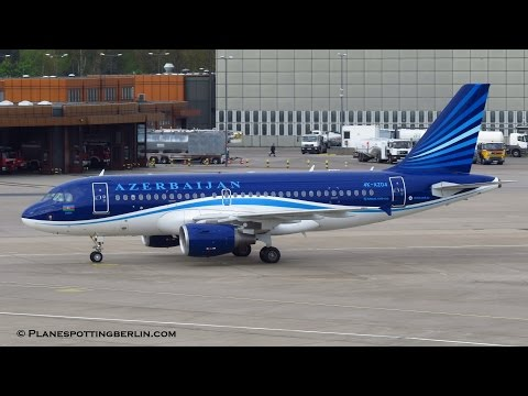 [Inaugural Flight] Azerbaijan Airlines A319 [4K-AZ04] ► Landing at Berlin Tegel Airport [Full HD]