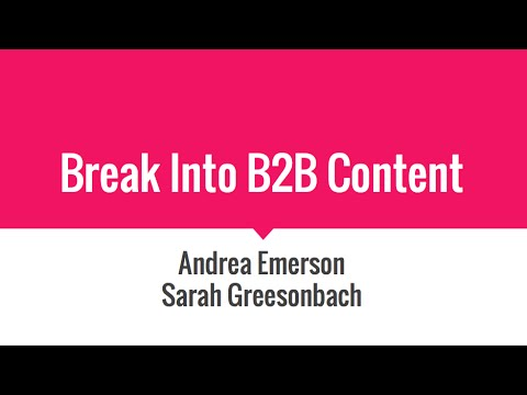 Break Into B2B Copywriting in 30 Minutes