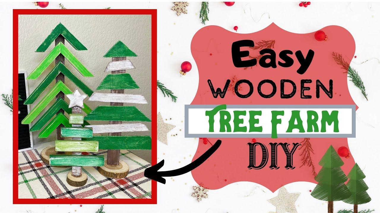 Easy Wooden Tree Farm DIY | KB Decor Crafts - YouTube