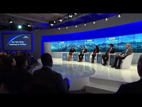 'Fake news' panel held at WEF in Davos