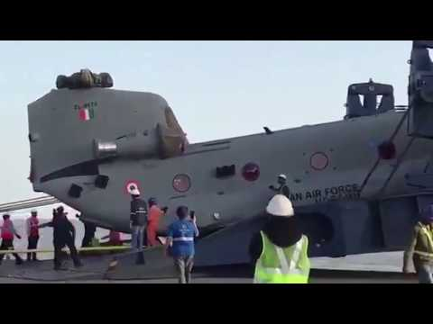 "First Batch of IAF CH-47 ""Chinook"" Helicopters Reached India 