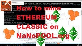 ETC Ethereum Classic Mining on Nanopool.org || gtx 1050ti Hasrate Dagger Hashimoto 🔥🔥🔥