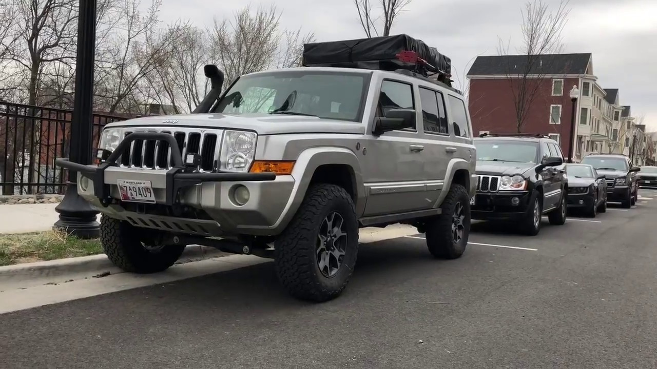 Jeep Commander Xk On Big Lift And 35 Inch Tires Youtube T