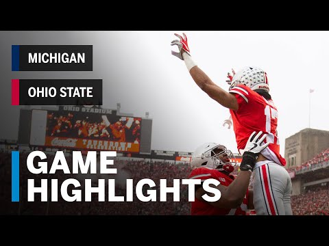 Highlights: Michigan Wolverines at Ohio State Buckeyes | Big Ten Football
