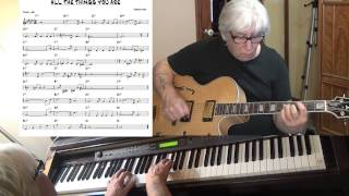 All The Things You Are - Jazz guitar & piano cover ( Jerome Kern )