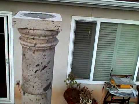 Pergola cantera stone columns finished part 5 youtube for Cantera pillars