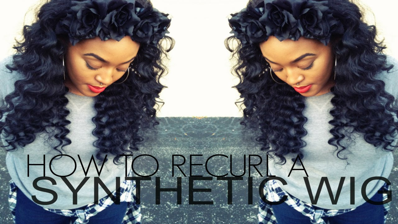 How To Bring That Wig Back To Life Curl Synthetic Hair Youtube