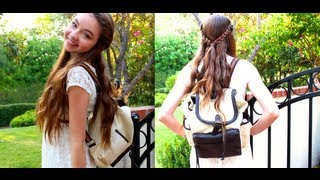 Repeat youtube video First Day Back to School Makeup, Hair, & Outfit!