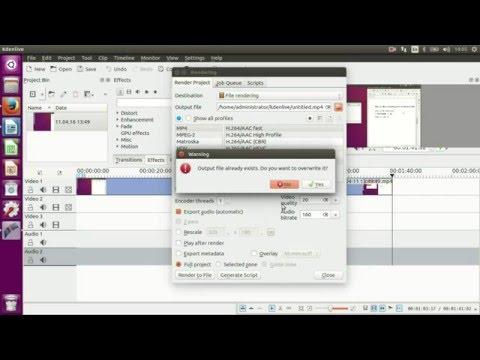 simple video editing in ubuntu 16.04