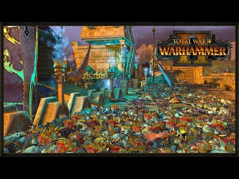Lizardmen Custom Fortress Siege Map Battle - Total War: Warhammer 2 Online Gameplay