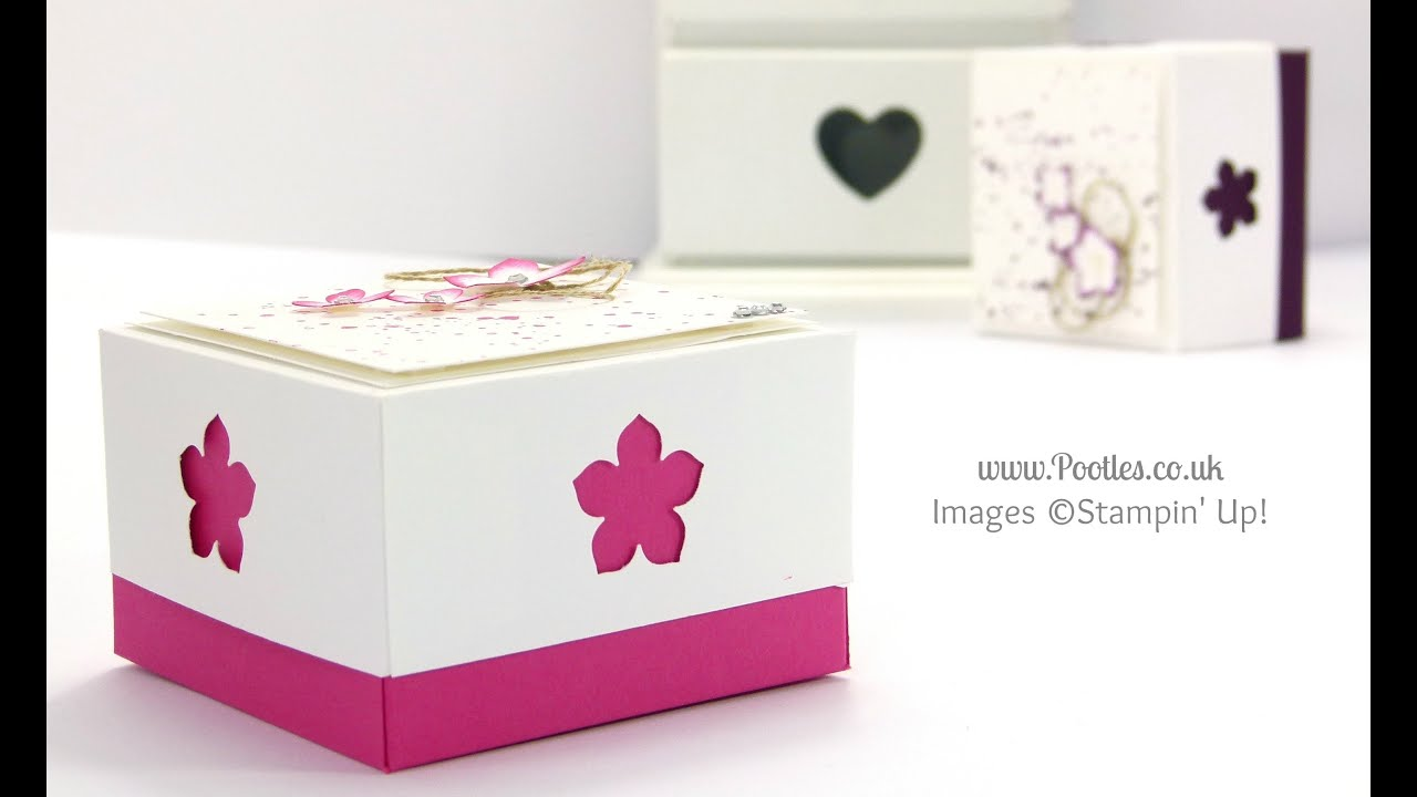 3x3 box for swaps for us stampin up convention 2014 tutorial