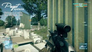 Battlefield 3 Played on Puget Systems Deluge L2 with NVIDIA 580 SLI