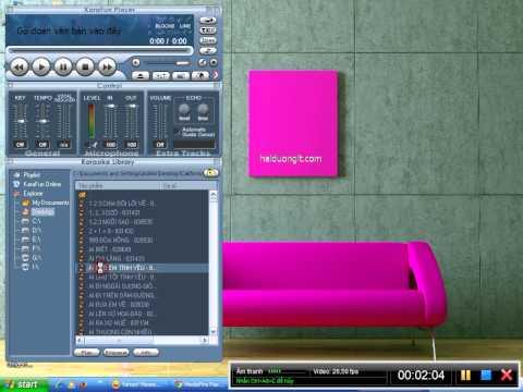 Hướng dẫn cài phần mềm hát karaoke máy tính