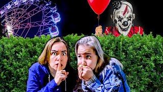Прятки От СТРАШНОГО КЛОУНА в Парке Развлечений в 3 Часа Ночи !