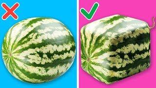 ١٥ حيلة مذهلة وسهلة للغاية مع البطيخ