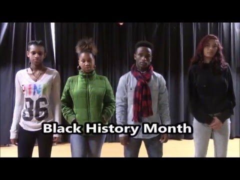 Middle school Students Black History Month message