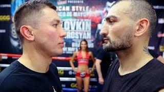 Головкин и Мартиросян встретились лицом к лицу (FACE OFF)+ Комментарии боксеров