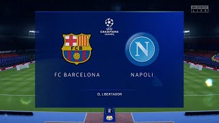 A simulation of the upcoming match in uefa champions league, barcelona vs napoli. napoli - league (08/08/2020) all goals & ...