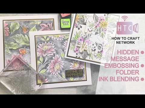 HOW TO USE EMBOSSING FOLDERS AND LARGE WORD DIES - HIDDEN MESSAGE CARD INK BLENDING - HANDMADE CARDS