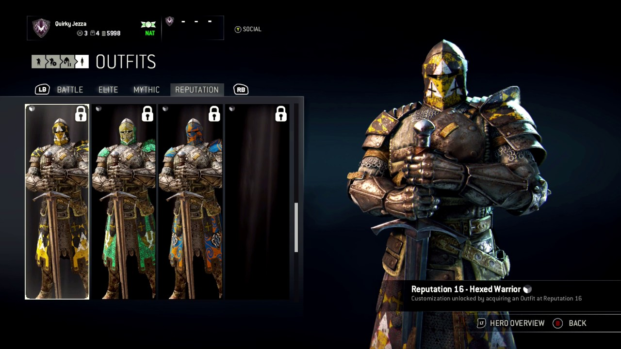 FOR HONOR - ALL WARDEN OUTFITS - CUSTOMIZATION - YouTube