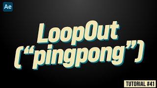 41 so Erstellen Sie Animationen Mithilfe der LoopOut ''PingPong'' - Ausdruck