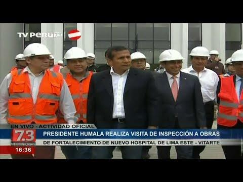 Presidente Humala inspeccionó obras de mejoramiento de Hospital de Lima Este