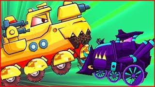 ПОСЛЕДНИЙ БОСС car eats car 3 Игра как мультик про хищные машинки от Фаника