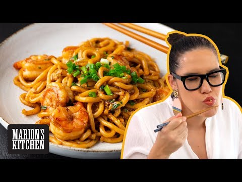 15-minute Garlic Shrimp Udon Noodles – Marion's Kitchen