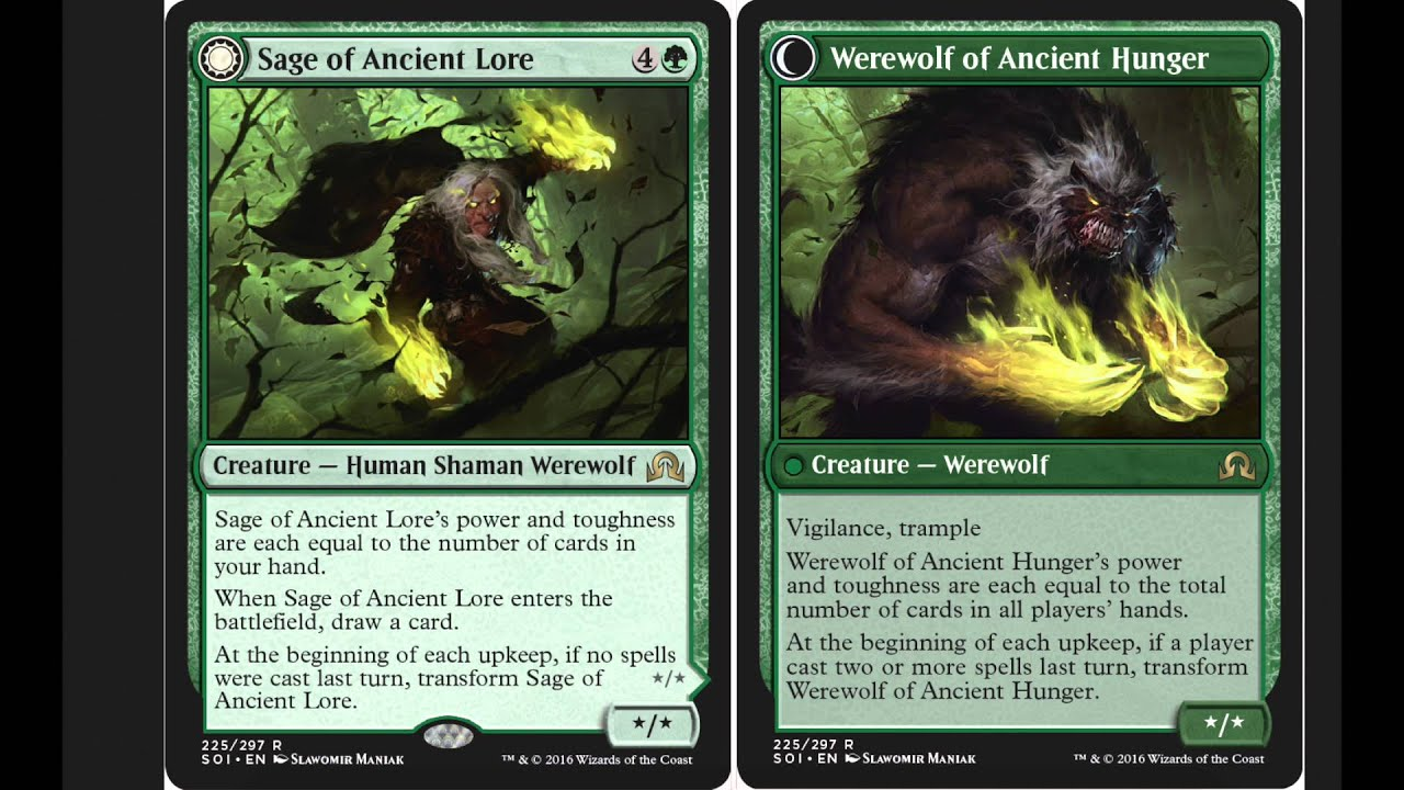 EDH? - Sage of Ancient Lore / Werewolf of Ancient Hunger - YouTube