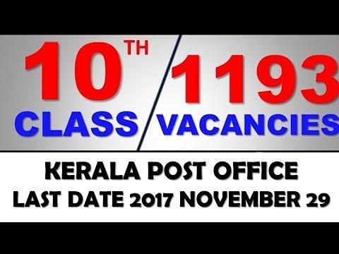 APPLY NOW -  POST OFFICE VACANCIES JOB SALARY Details Gurukulam Coaching Classes