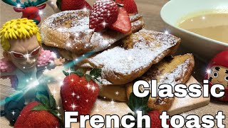 Classic french toast wİth cinnamon sauce