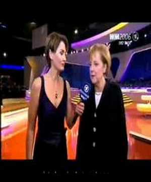 WM 2006 Interview Angela Merkel