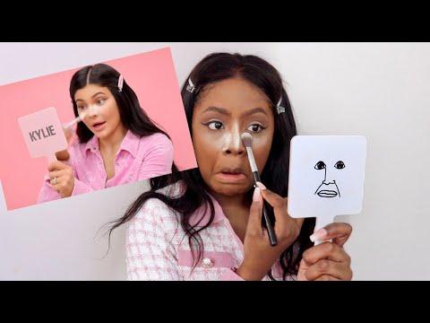 BLACK GIRL TRIES KYLIE JENNER MAKEUP