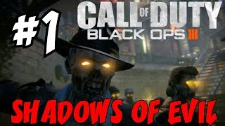 "BLACK OPS 3 ZOMBIES: Shadows of Evil! ★ ""FIRST Playthrough Part 1 #NGTPure"" Let"