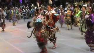 Teen Girls Jingle Group 1 Gathering of Nations Pow Wow 2012