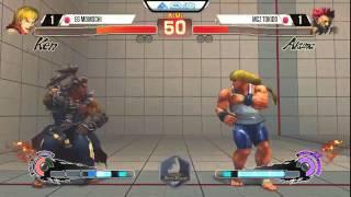 Momochi (Ken) vs Tokido (Akuma) - EVO 2015 USF4 - Top 8 Winners